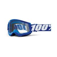 100% Strata 2 blue cross goggle clear lens