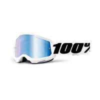 100% Strata 2 everest cross goggle mirror blu lens