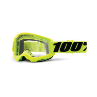 100% Strata 2 yellow cross goggle clear lens