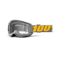 100% Strata 2 izipizi cross goggle clear lens