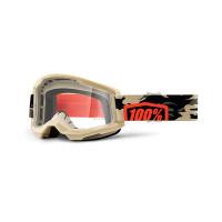 100% Strata 2 kombat cross goggle clear lens