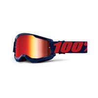 100% Strata 2 masego cross goggle mirror red lens