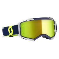 Scott Fury cross goggle blue grey yellow chrome works