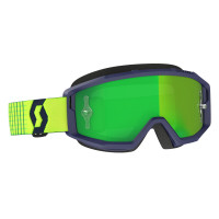 Scott Primal cross goggle blue yellow green chrome works