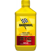 Bardahl XTC C60 15W-50 Moto lubricating oil 1 liter for 4 strikie engine