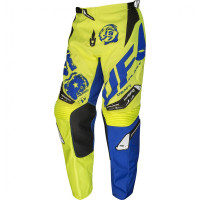 UFO Draft cross pants fluo Yellow Blue