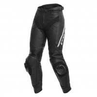 Dainese DELTA 3 LADY leather trousers black black white