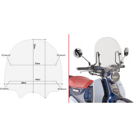 Givi 1168A transparent windshield specific for HONDA CUB C125
