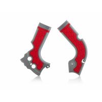 Frame protector Acerbis 0017573 X-GRIP HONDA Gray Red