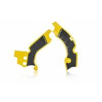 Frame protector Acerbis 0022347 X-GRIP SUZUKI Yellow Black