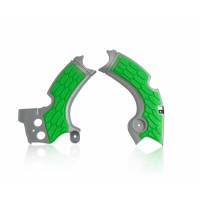 Frame protector Acerbis 0022574 X-GRIP KAWASAKI Gray Green