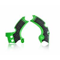 Frame protector Acerbis 0022574 X-GRIP KAWASAKI Green Black