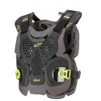 Alpinestars A-1 PLUS CHEST PROTECTOR cross Alpinestars Black Anthracite Yellow Fluo