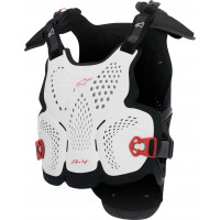 Alpinestars A-4 chest protector white black red