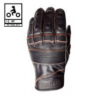 Carburo VEGA CE certified leather summer gloves Brown