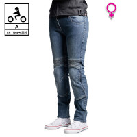 Befast Iron Tech Lady CE woman certified jeans with aramidic fiber Blue