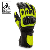 Befast TRONIK CE certified leather raging gloves Black Yellow