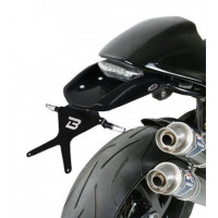 Barracuda DN6104BN Reclining License Plate Black for Ducati