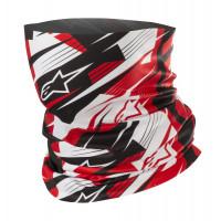 Alpinestars Blurred Neck Tube Black Black White Red