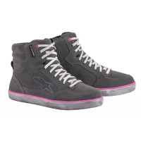 Alpinestars J-6 WATERPROOF woman shoes Light Grey Fuchsia