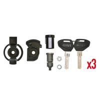 Givi sub-plate for Security Lock keys