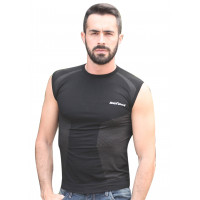 Befast Terence sleeveless shirt in Dryarn