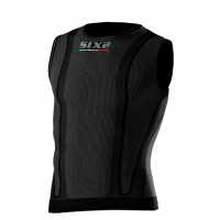 Sixs sleeveless undervear shirt Black