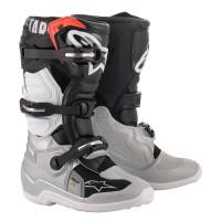 Alpinestars TECH 7 S kid cross boots Black Silver White Gold