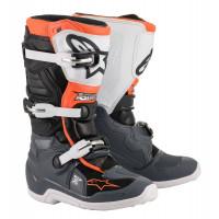 Alpinestars TECH 7 S kid cross boots Black Gray White Orange Fluo