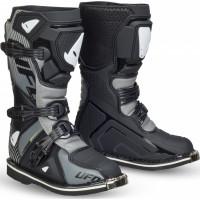 Ufo Plast TYPHOON kid cross boots Black Grey