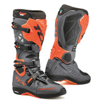 Tcx Comp Evo Michelin cross boots gray orange fluo