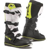 TCX X-BLAST cross boots Black White fluo Yellow