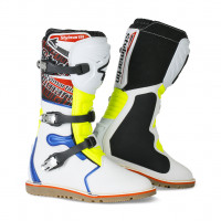 Stylmartin off road boots Impact Pro white fluo yellow blue
