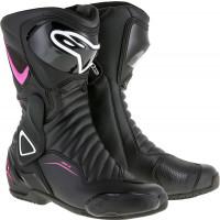 Alpinestars STELLA SMX-6 V2 women's racing boots black fuchsia white