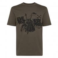 T-shirt Carburo LIVE FAST Verde Militare