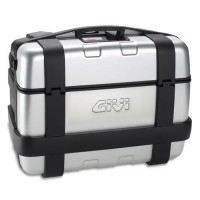Givi Trekker Monokey top case with aluminum finish and extruded