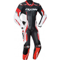 Ixon VORTEX JUNIOR kid summer leather suit Black White Red
