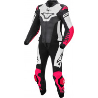 Macna Tracktix woman divisible leather suit White Pink Black