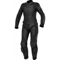 Spyke ESTORIL SPORT LADY ZERO lady leather divisible suit Black