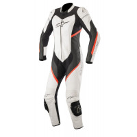 Alpinestars Stella Kira 1Pc Leather Suit Black White Red Fluo