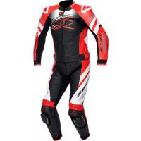 Spyke ESTORIL SPORT 2pc leather racing suit Black White Fluo Red