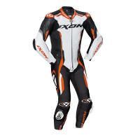 Ixon VORTEX 2 summer leather suit Black White Orange