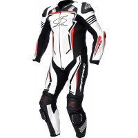 Spyke ASSEN RACE 2.0 1pc summer leather racing suit White Black Fluo Red
