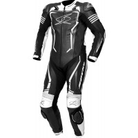 Spyke ASSEN RACE 2.0 1pc summer leather racing suit Black White