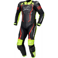 Spyke ASSEN RACE 2.0 1pc summer leather racing suit Black Fluo Fluo Yellow Red