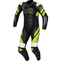 Spyke ESTORIL RACE 1pc summer leather racing suit Black White Fluo Yellow