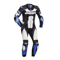 Ixon JACKAL leather suit 1pc Black White Blue