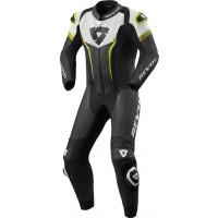 Rev'it Argon inner leather suit Black Yellow Neon