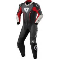 Rev'it Argon inner leather suit Black Neon Red