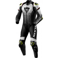 Rev'it Quantum leather full suit White Black